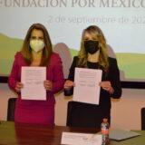 Fundación Por México y AMMJE firman convenio